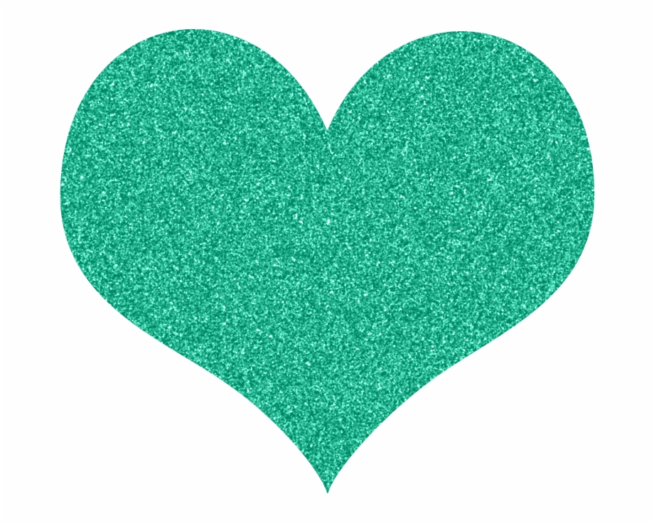 Green heart clipart.