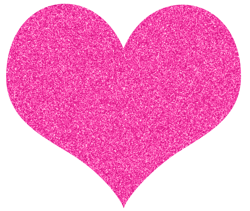 Pink sparkly heart