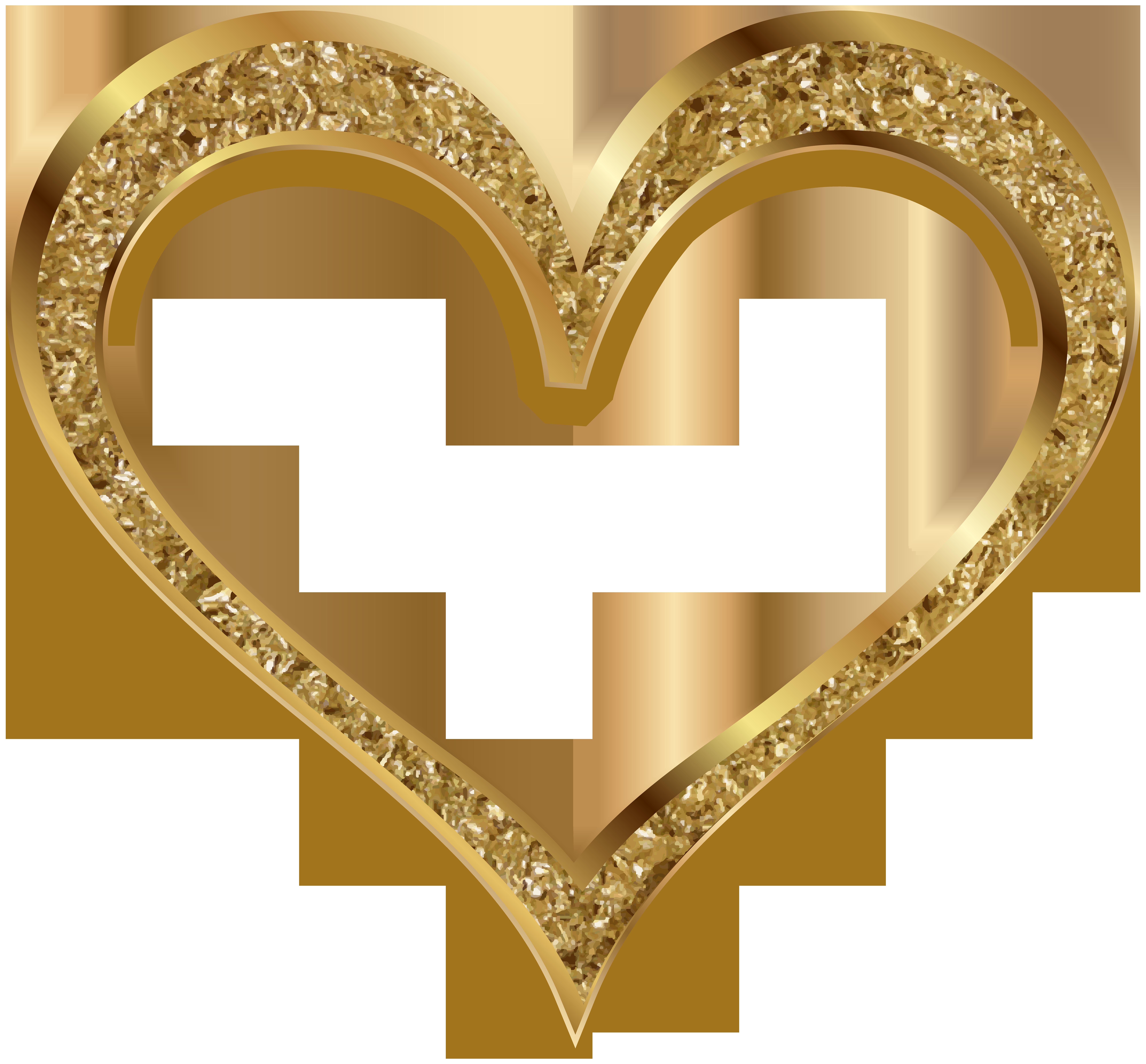 Gold heart clip.