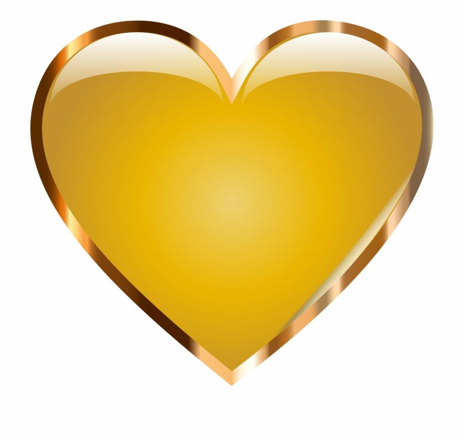 By Vlad Kochelaevskiy Clipart Gold Heart