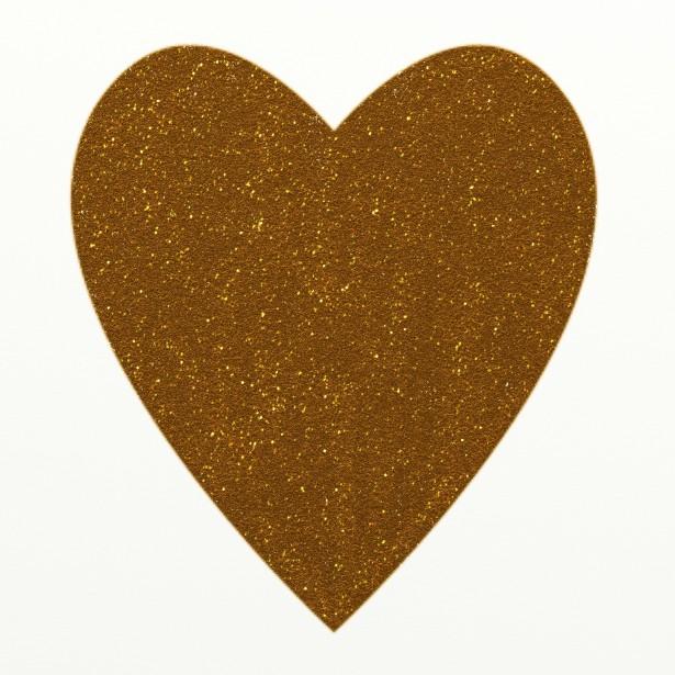 Gold glitter heart.