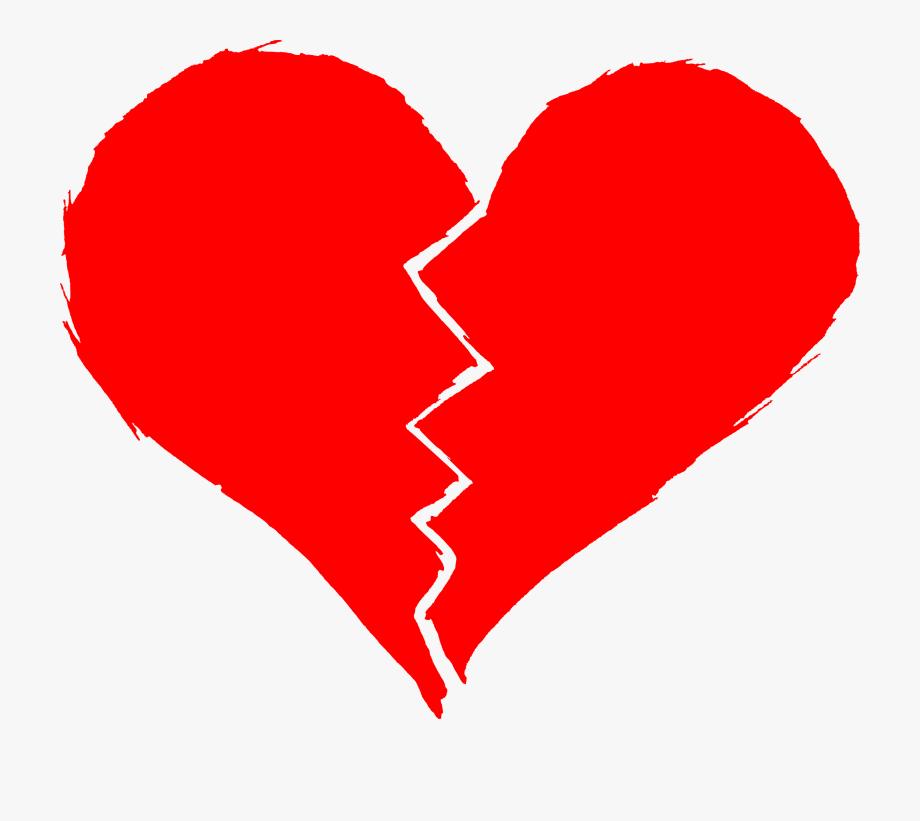 Drawn broken heart.