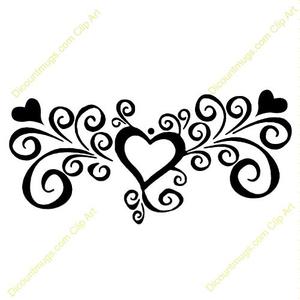 Clipart fancy heart.