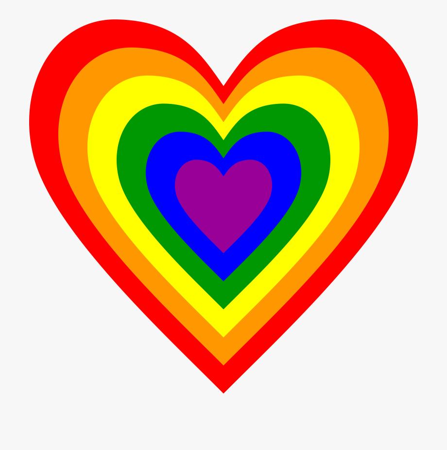 Collection rainbow heart.