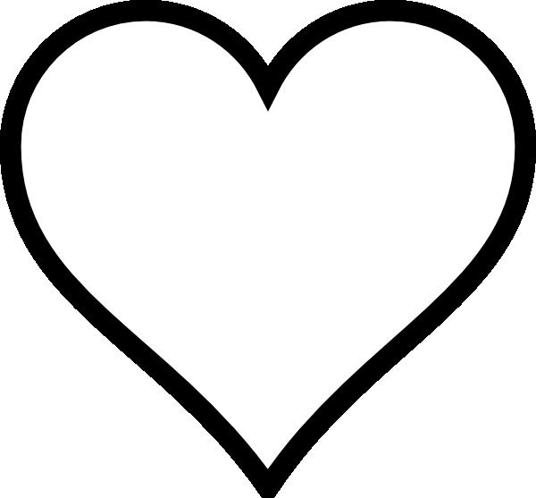 Heart stencil plain.