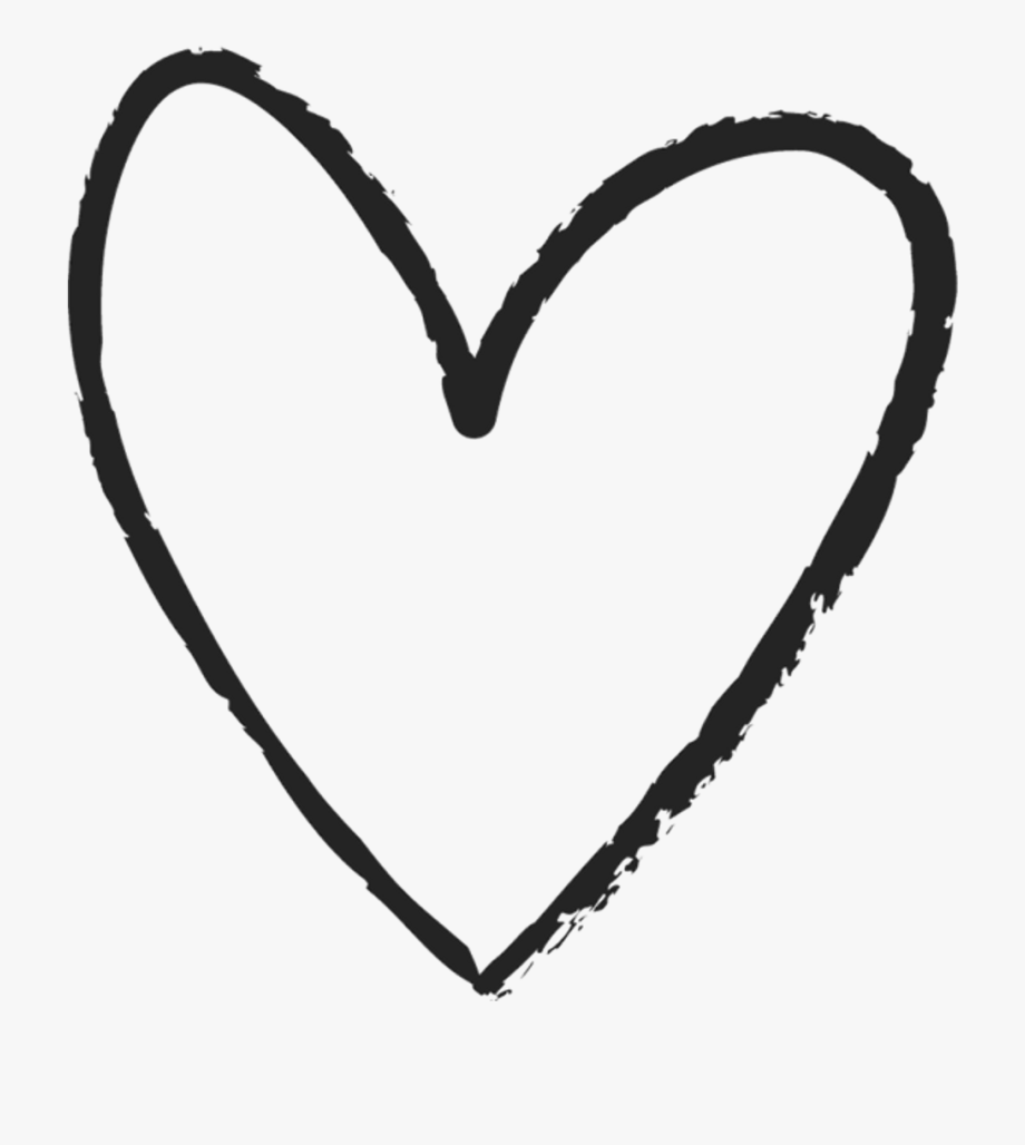Scribble heart clipart.