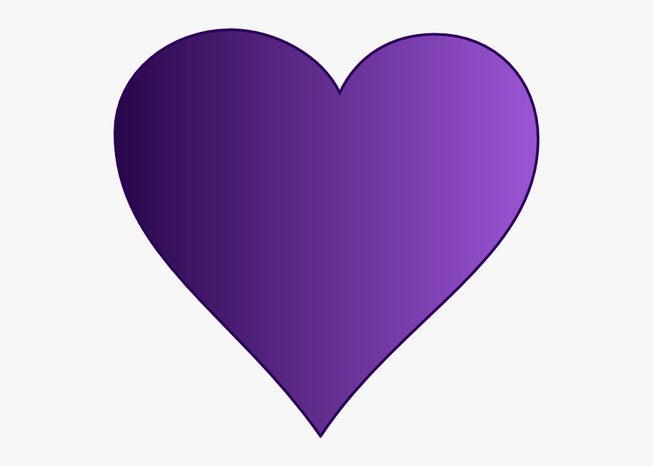 Heart clipart purple.