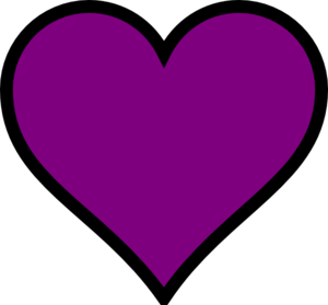 Purple heart purple.
