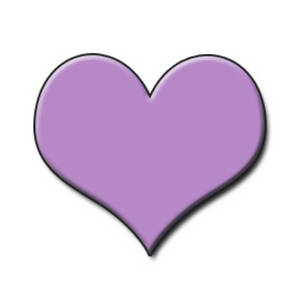 Purple heart clip.
