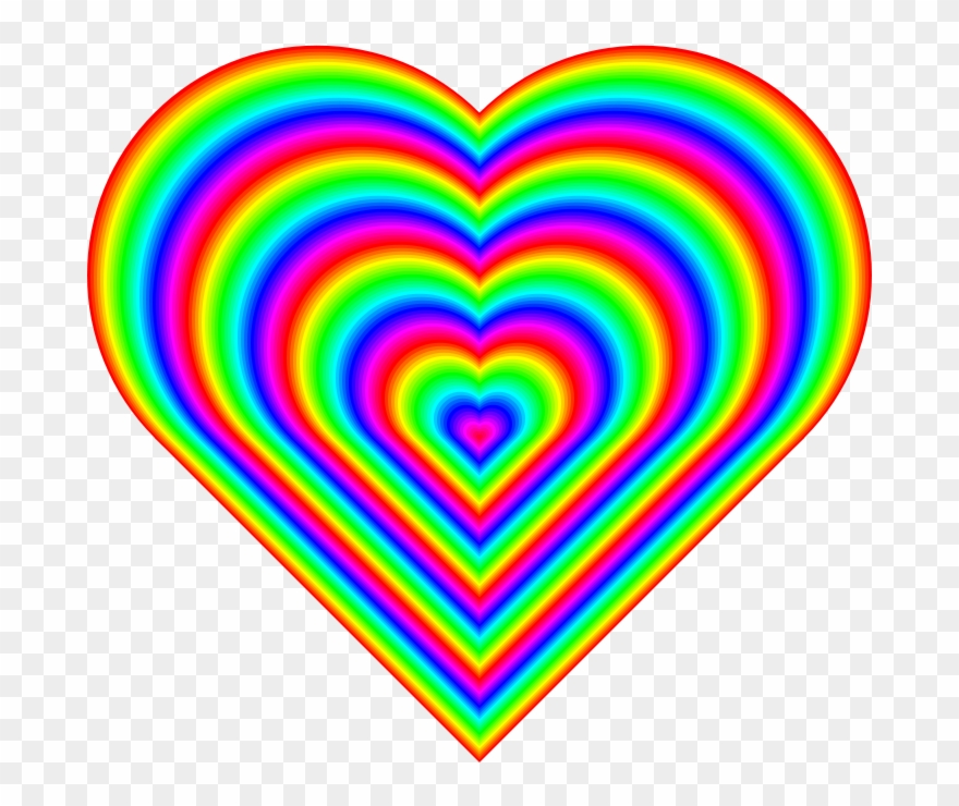 Heart rainbow picture.