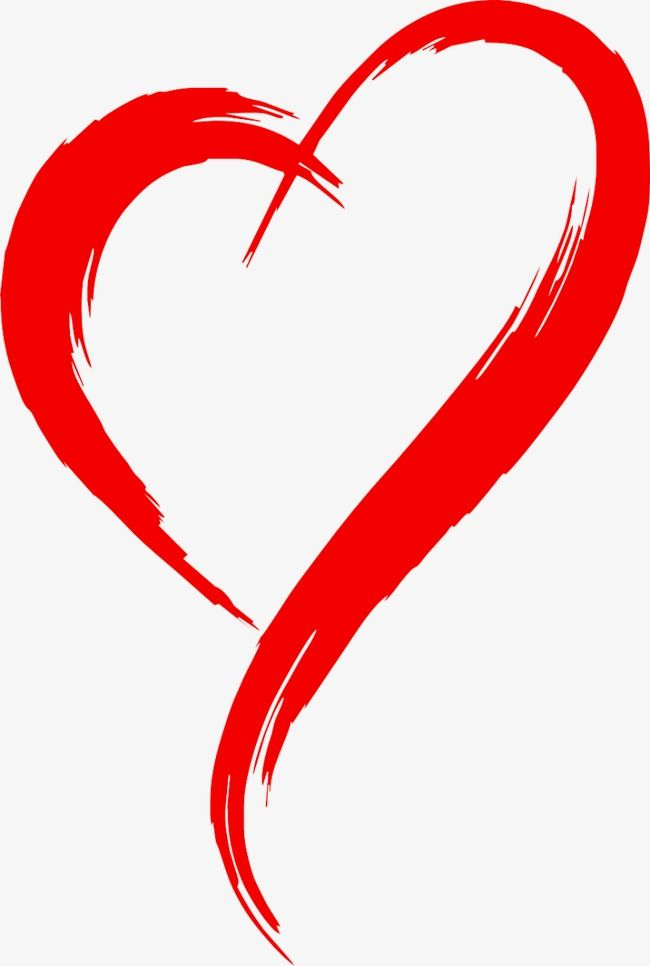 Red Heart Outline
