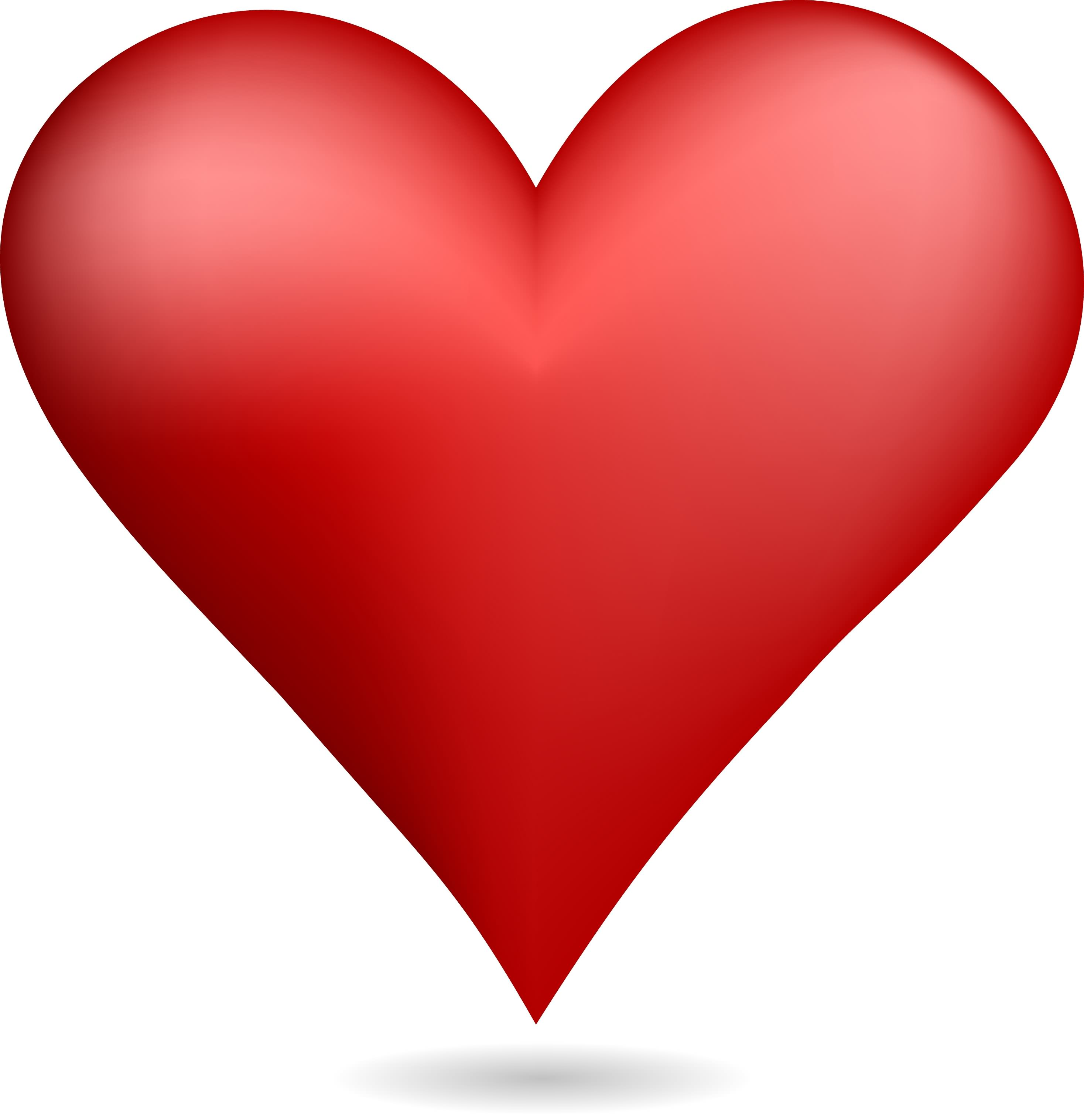 Free Red Heart, Download Free Clip Art, Free Clip Art on