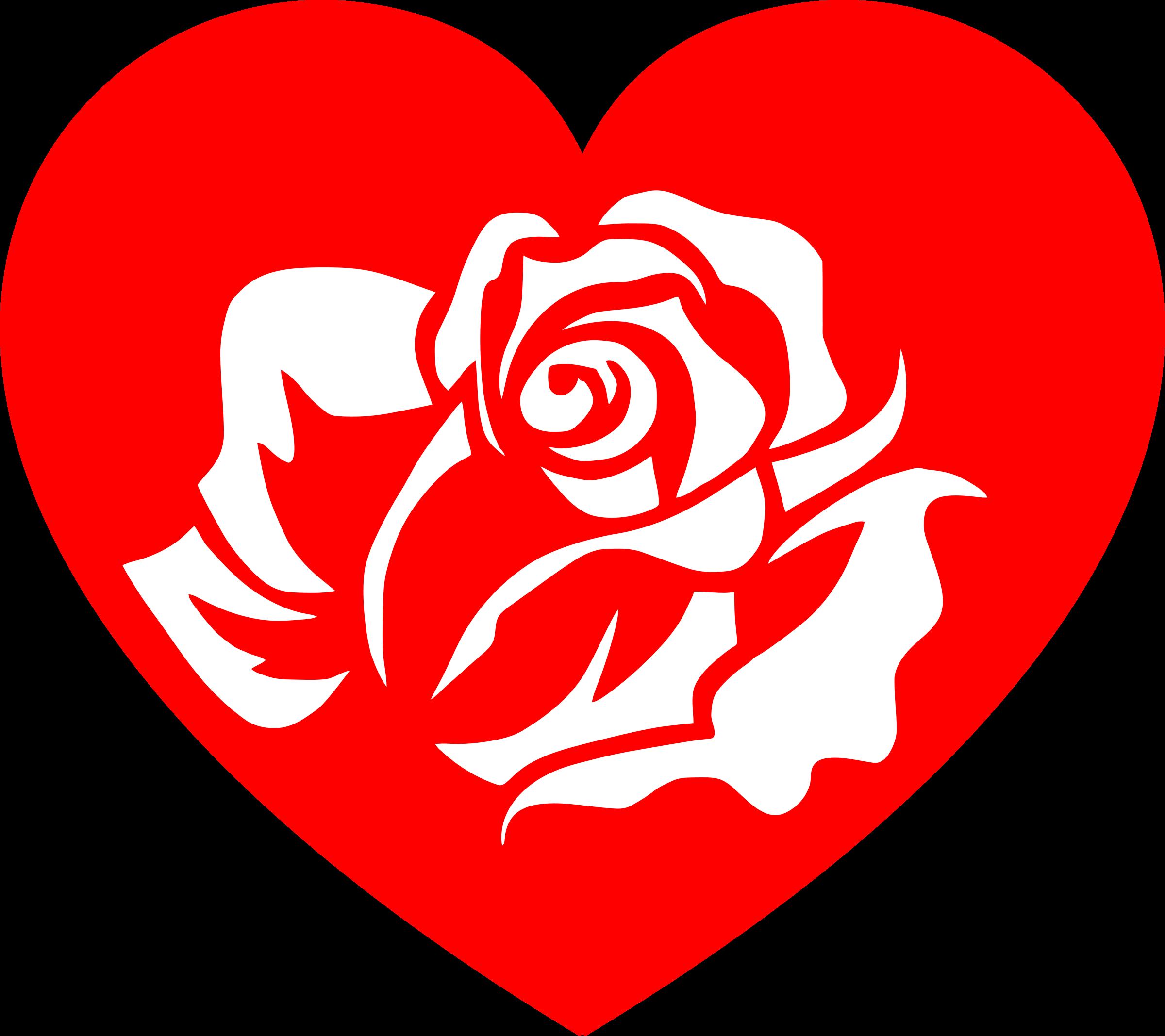 Free rose heart.