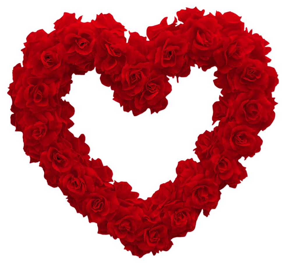 Transparent Rose Heart PNG Clipart Picture