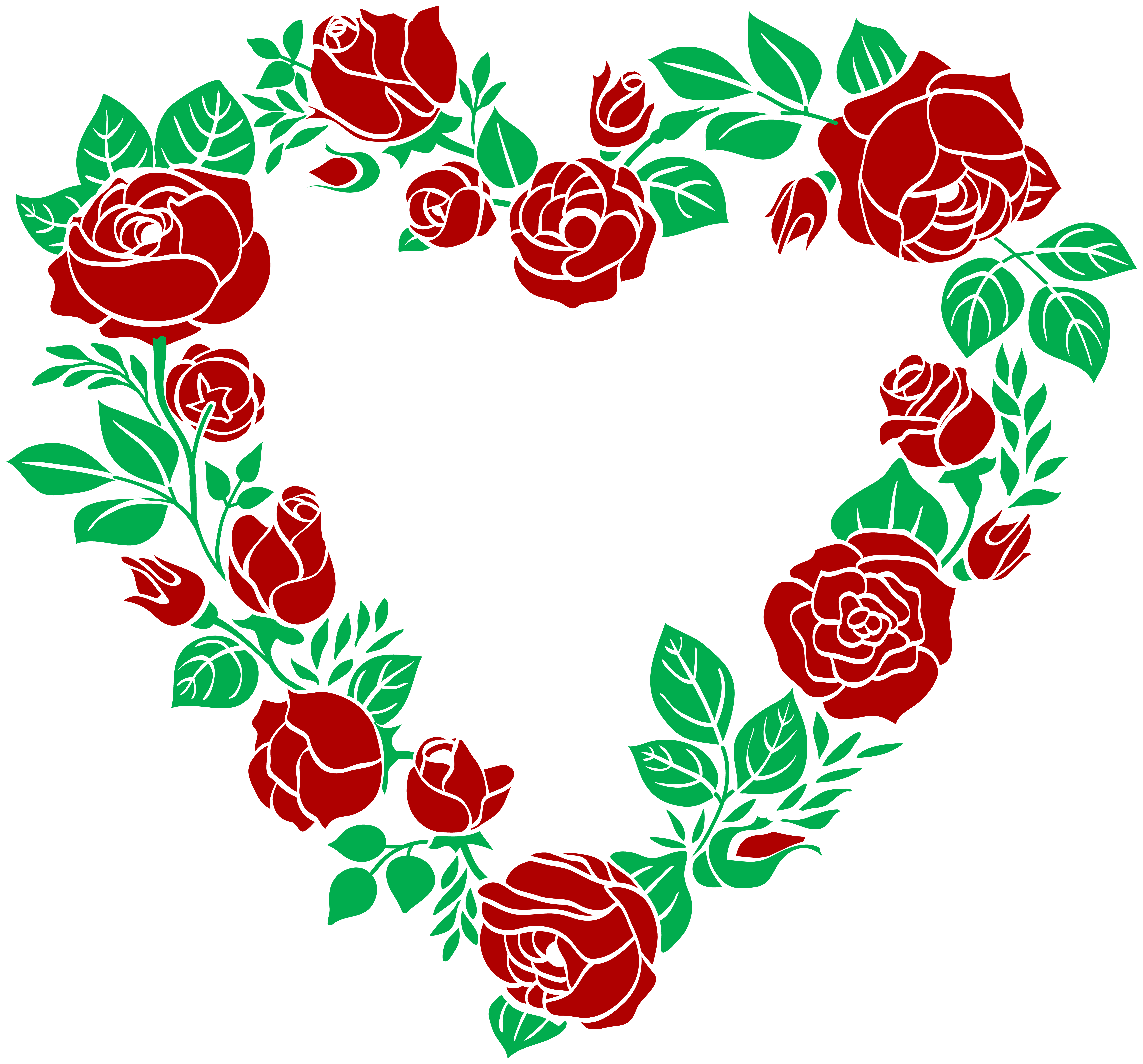 Clipart rose heart.