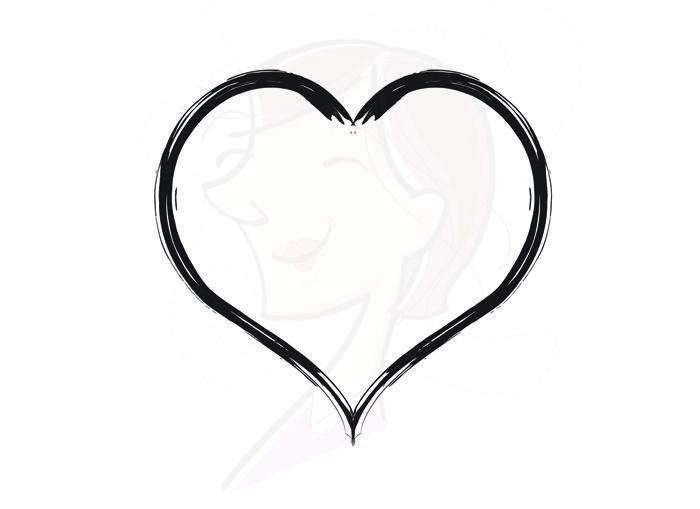 Rustic heart clipart.