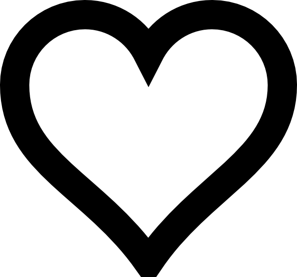 Free silhouette heart.