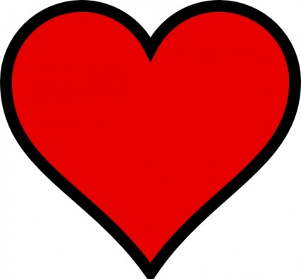 Free Simple Heart Outline, Download Free Clip Art, Free Clip