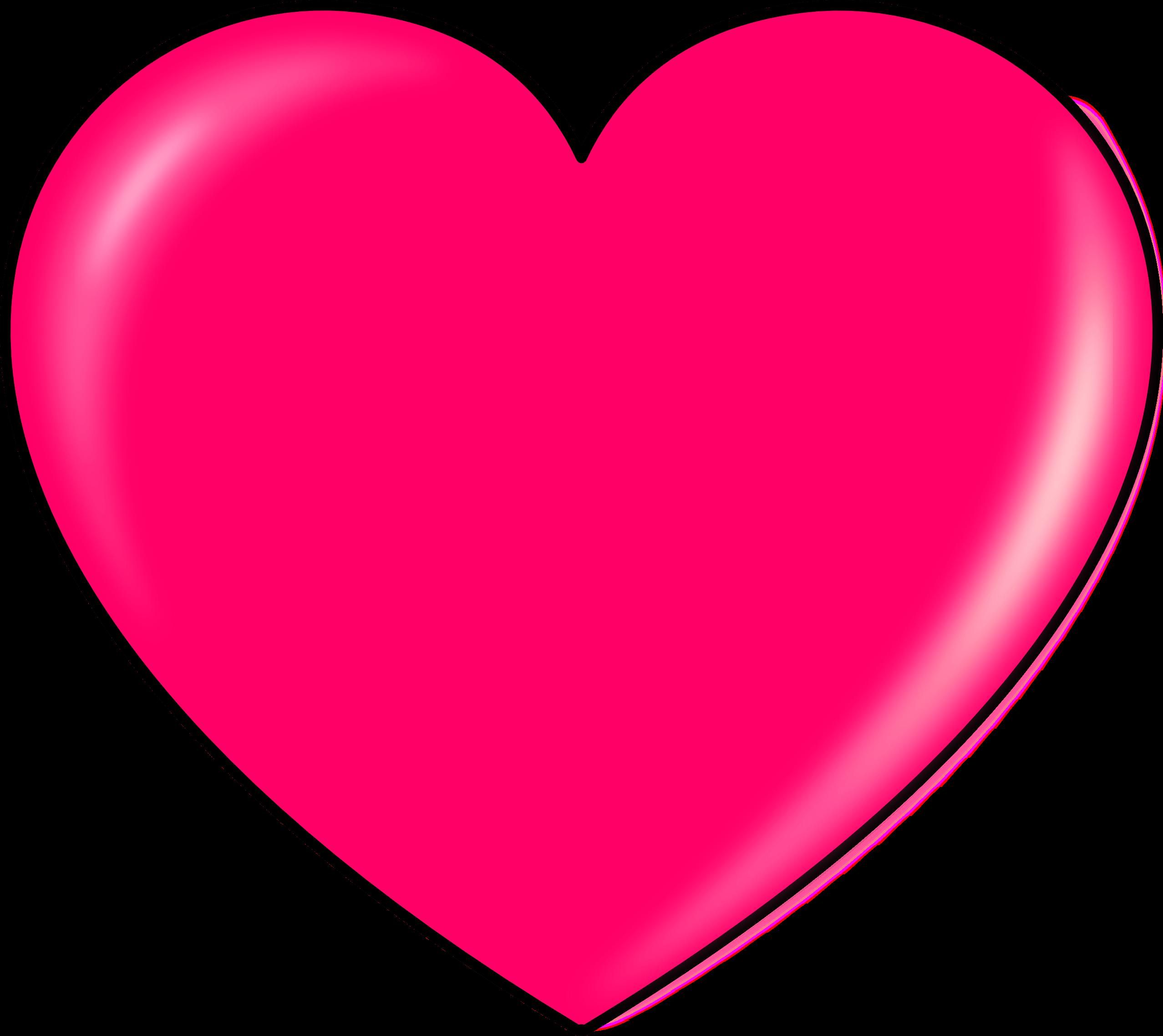 Pink heart clipart.