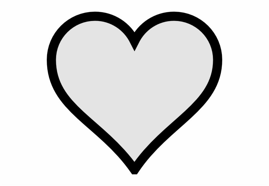 Black heart clipart.