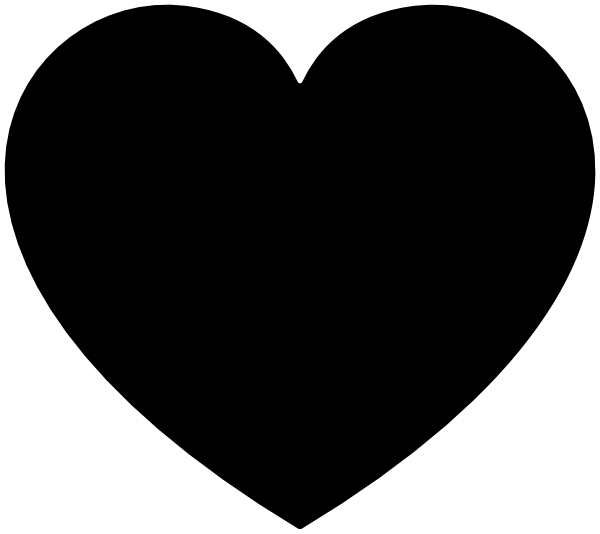 Heart clipart black and white black heart clip art at vector