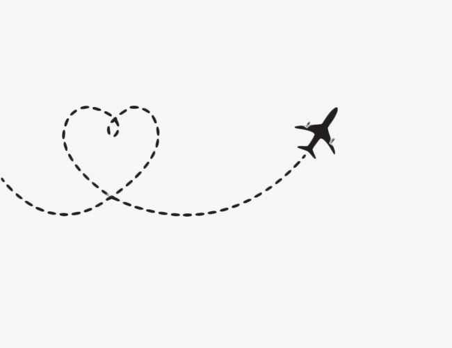 Heart Shaped Airplane Route