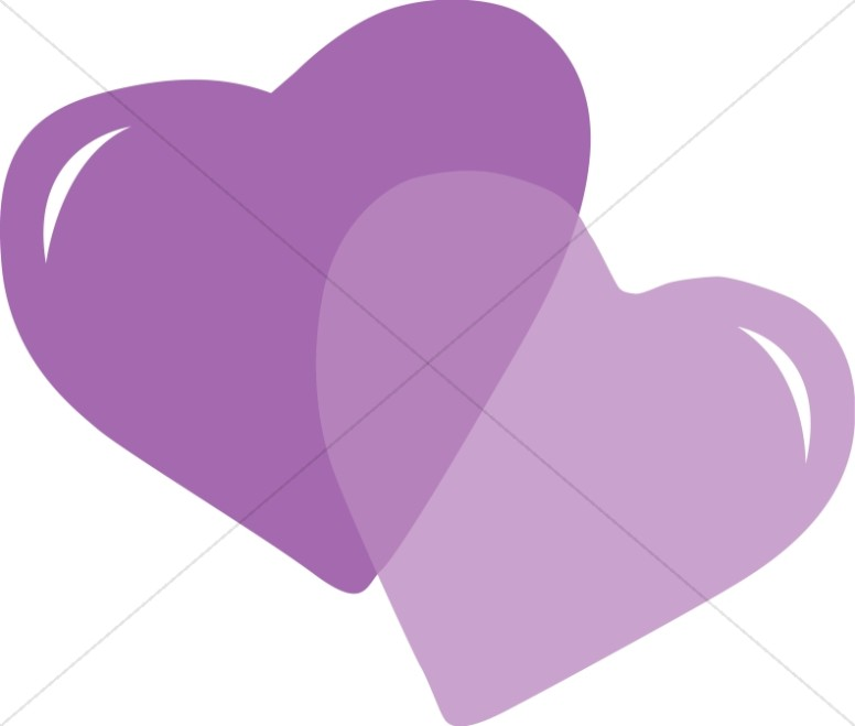 Pair purple hearts.