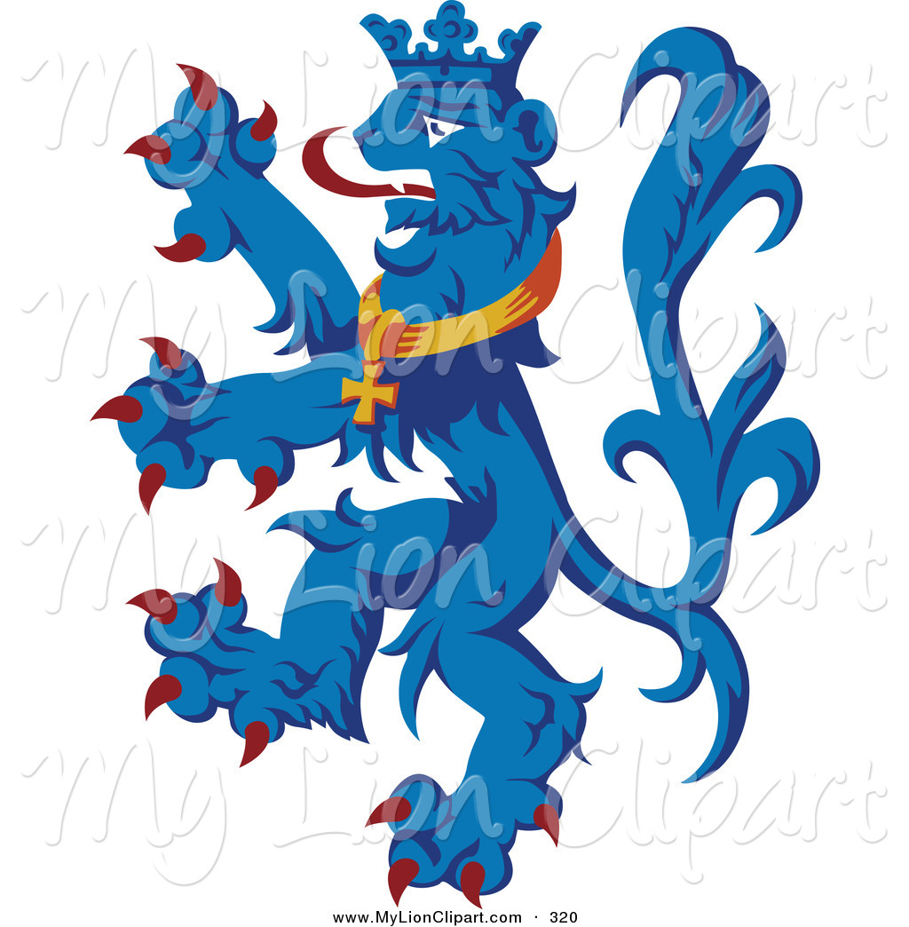 free heraldry cliparts blue