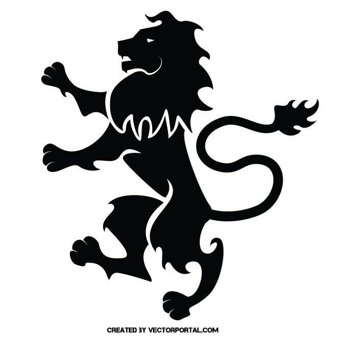 Heraldic lion free.