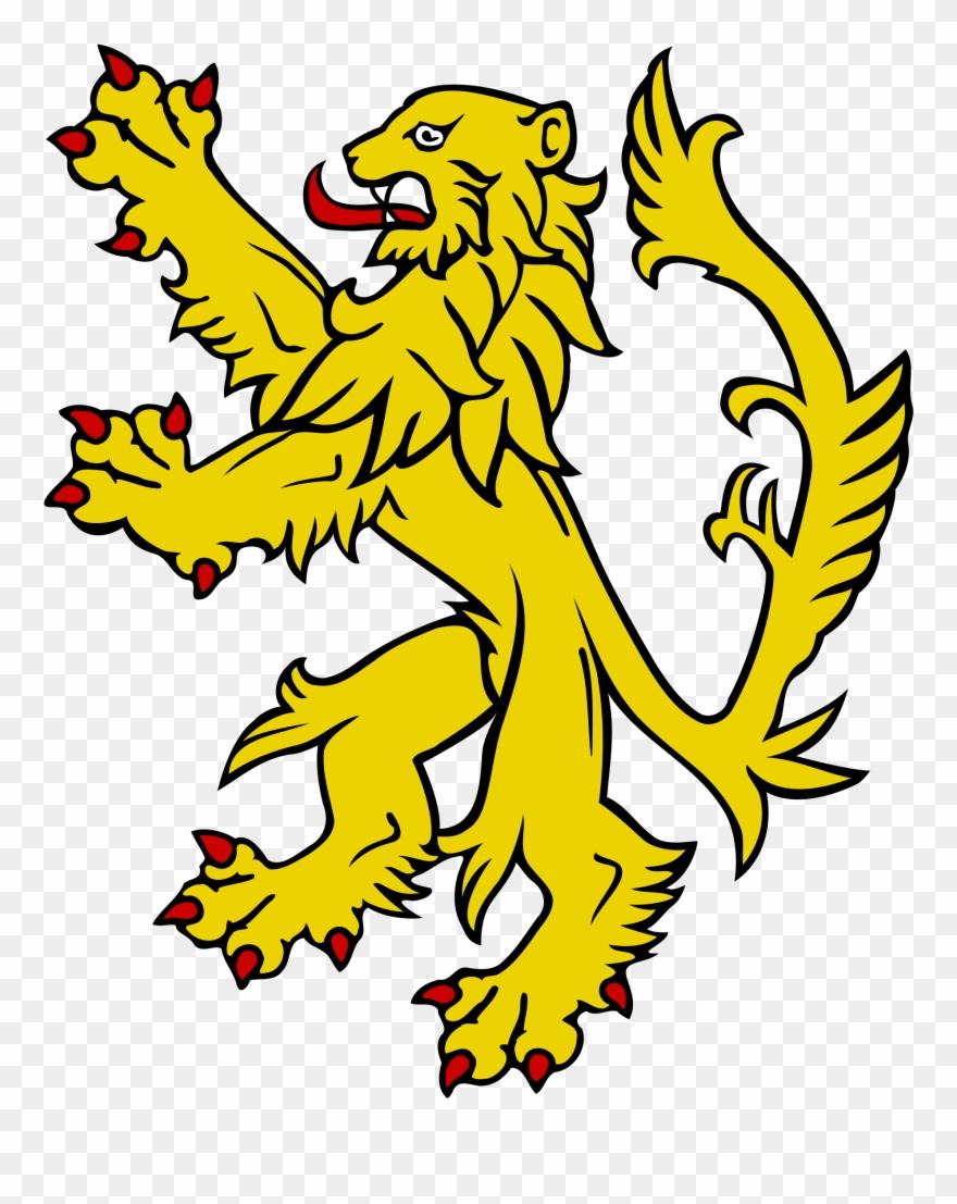 Open heraldic lion.