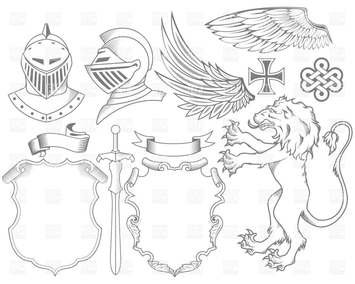 Heraldry symbols clip.