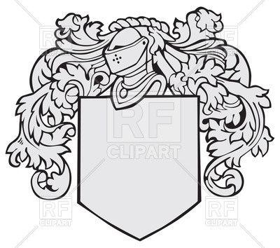 Template of medieval heraldic emblem