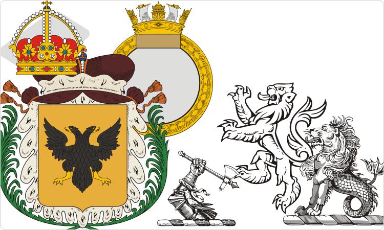 Heraldry clipart shields.