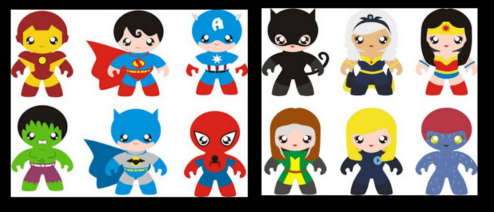 Lovely baby superheroes.