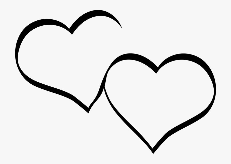 Herz schwarz wei.