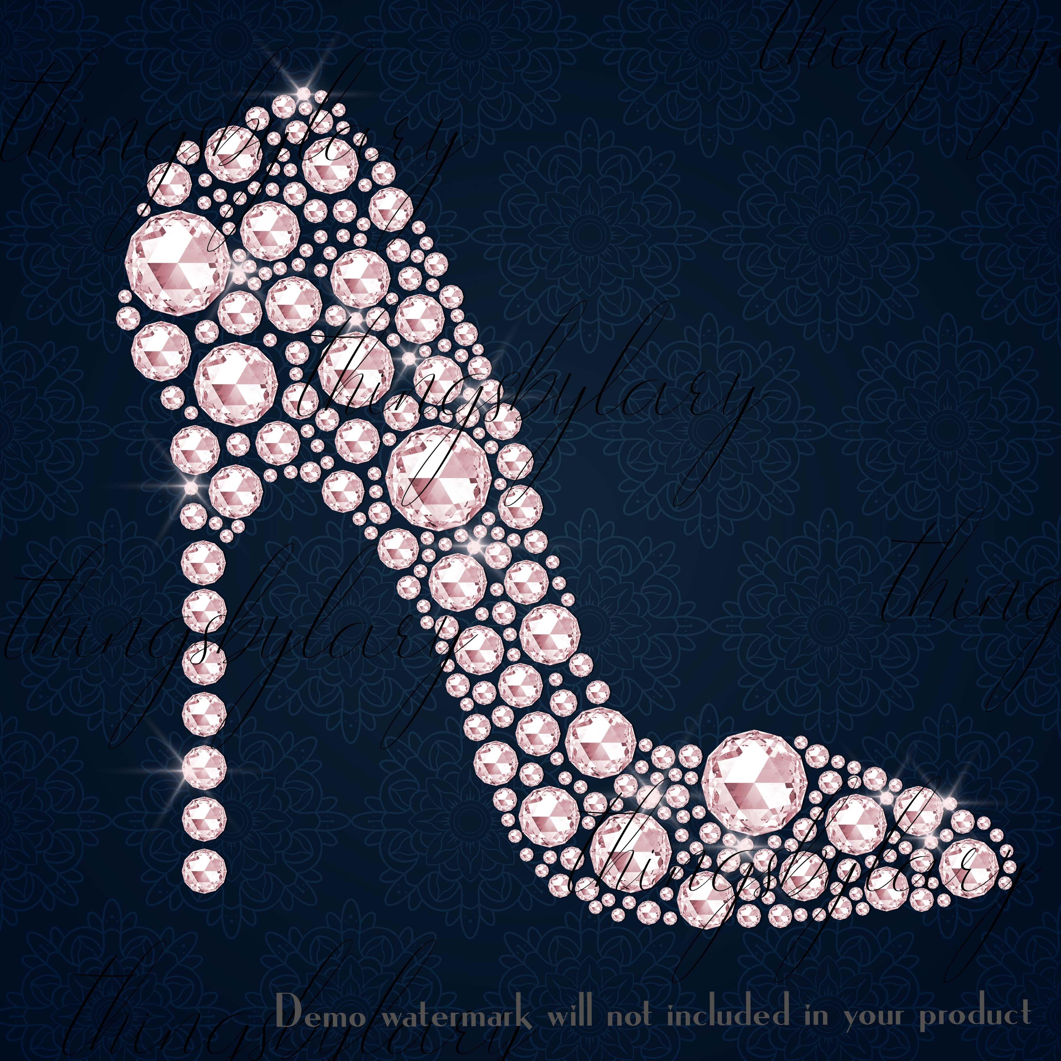 Diamond pearl rhinestone.