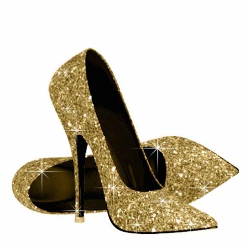 Gold glitter high.