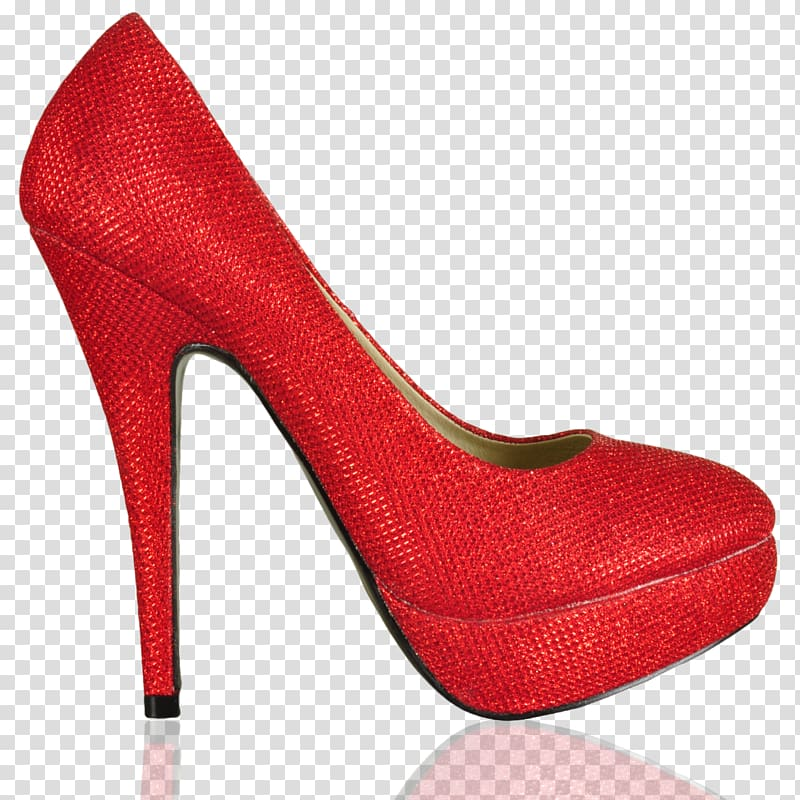 Heel shoe red.