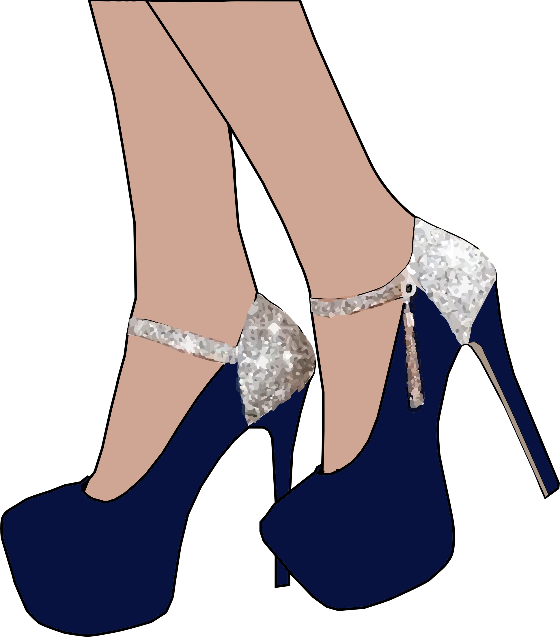Sparkly high heel.
