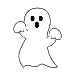 Free Ghost Happy Halloween Clipart Image