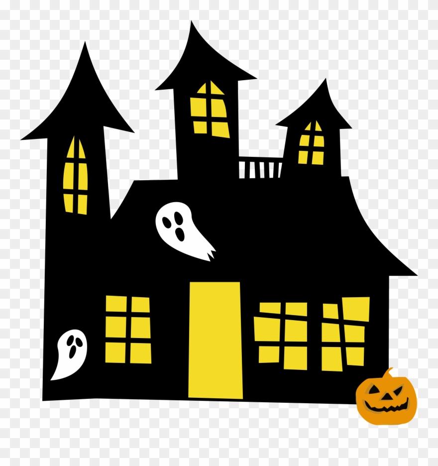 Hauntedhouse Yellowwindows Clipart Of Spooky