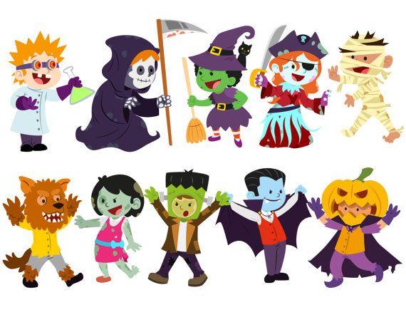 Halloween clipart, Costume clipart, Halloween kids clipart