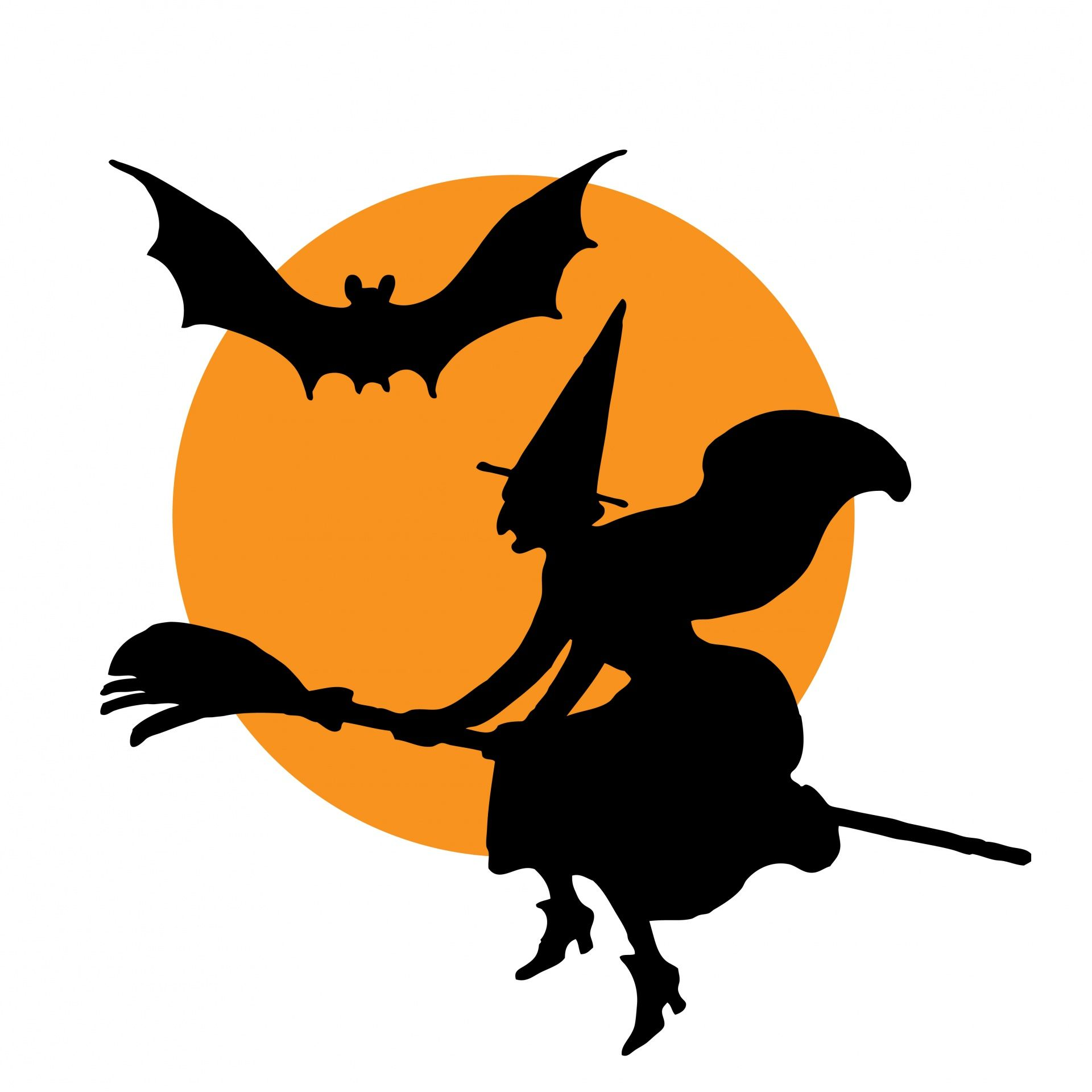 Halloween Witch Broomstick Clipart