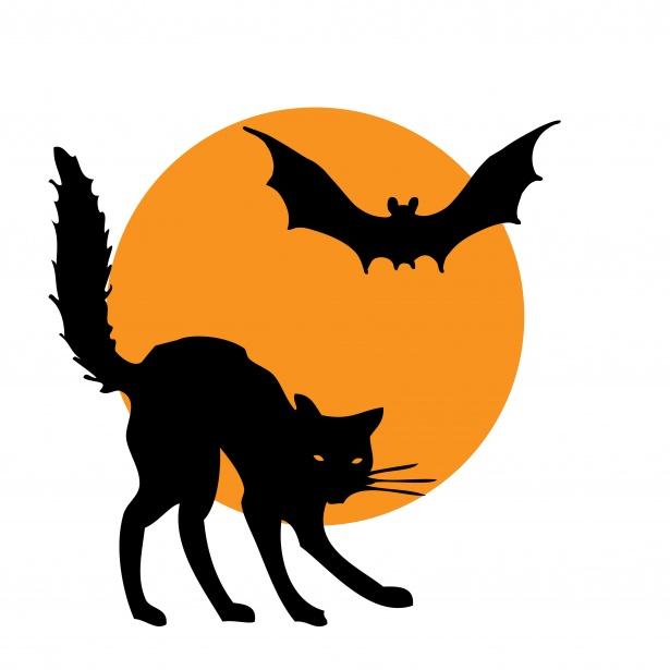 Halloween clipart cat.