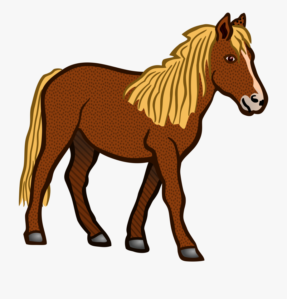 Clipart horse coloured.