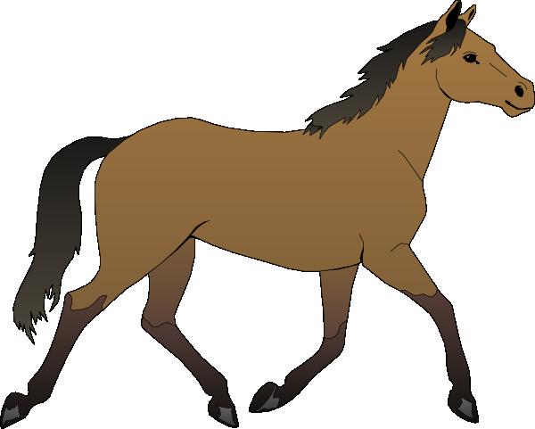 Running horse clip.