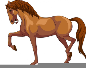 Animated horse running.