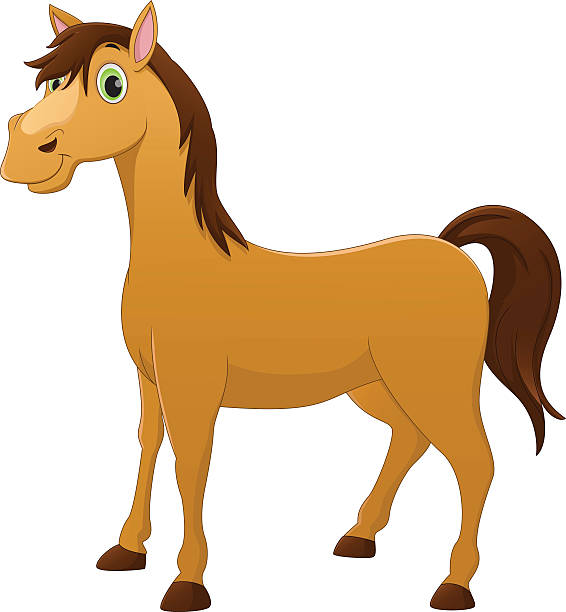 Cartoon horse clipart.