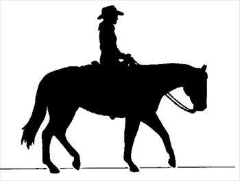 Cowboy horse silhouette.