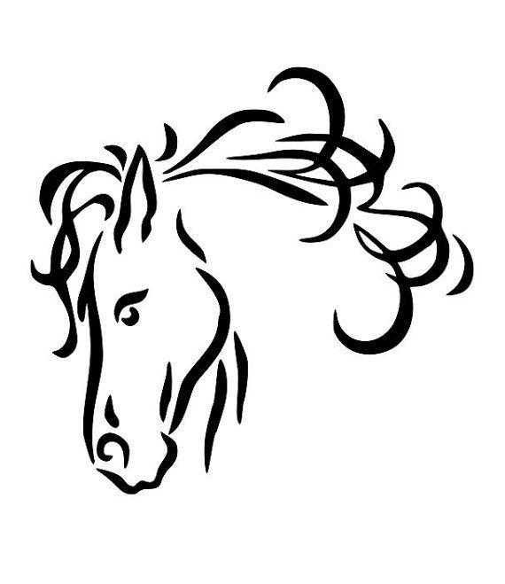 Horse line drawings.